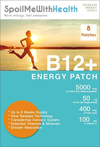 SpoilMeWith Health: B12 5000 mcg + Iron 50mg (Bisglycinate), Vitamin C 100mg, Folic Acid 0.4 mg