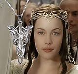 Féeries et merveilles Collier ARWEN, Le Seigneur des Anneaux REPLIQUE ARWEN - Argent Plaque