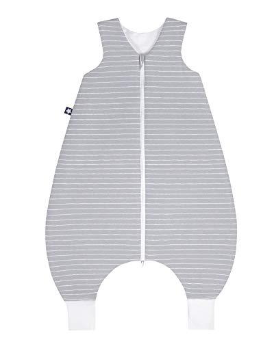 Julius Zöllner 9082567310 Jersey Jumper - Schlafsack mit Beinen, Grey Stripes, circa 80 cm