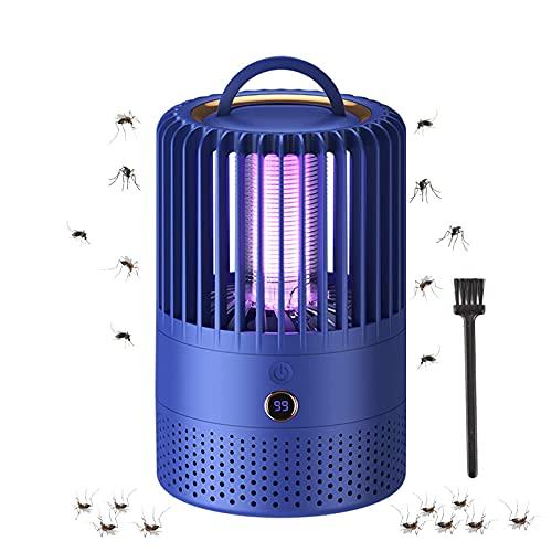 Lámpara Antimosquitos Eléctrico, Portátil 2 en 1 Mosquito Lámpara Trampa, USB Recargable Aparato Antimosquitos para Hogar Cámping Matar Mosquitos Moscas Polillas Insectos