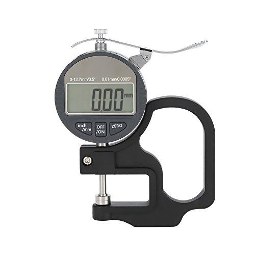 Calibro di spessore digitale per strumento di misurazione filo filo di cuoio di carta 0-12.7mm Intervallo di misurazione (0.01mm)