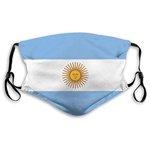 Vlag Van Argentinië Wasbaar Herbruikbaar Masker, Anti Stof Half Gezicht Mond Masker Voor Kinderen Tieners Mannen Vrouwen Met Verstelbare Oor Loops