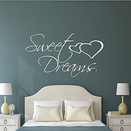 Dulces sueños cita inspiradora pegatina de pared calcomanía de transferencia dormitorio vinilo carteles guardería niños niñas decoración de la habitación A5 42 × 24 CM