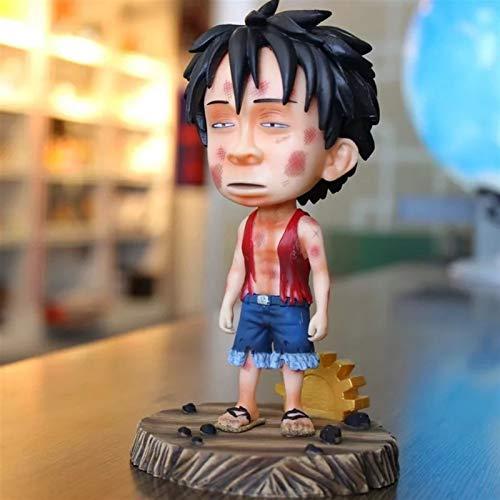 Kioiien Una Pieza aturdida Luffy Anime Figura de Dibujos Animados Juego de Dibujos Animados Estatua Hecho a Mano PVC Modelo Estatua Boy Chica Juguete Coleccionables Boxed 16cm