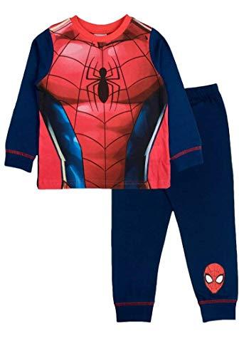 Pijama infantil Spiderman, Marvel, 2 a 8 años Azul, rojo y multicolor. 5-6 Años