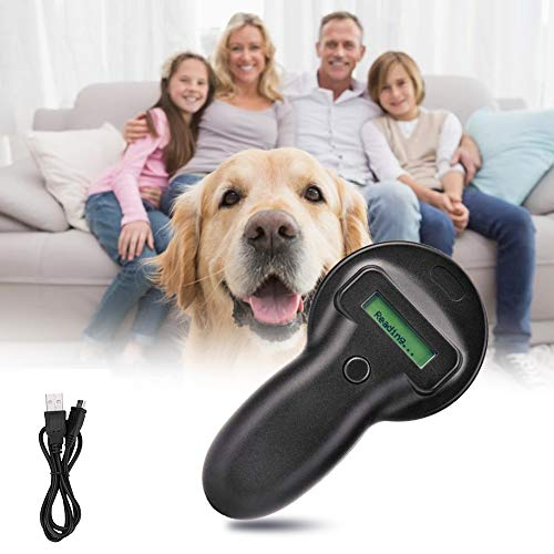 Portable Animal Tag Reader Palmare Pet Microchip Portable Animal Scanner Chip elettronici Pet Tracker, Localizzatore GPS per Cani,