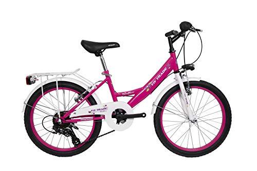 T&Y Trade 20 Zoll Kinder MÄDCHEN City Fahrrad KINDERFAHRRAD MÄDCHENFAHRRAD CITYFAHRRAD CITYRAD MÄDCHENRAD Rad Bike 7 Shimano Gang Reflex Pink