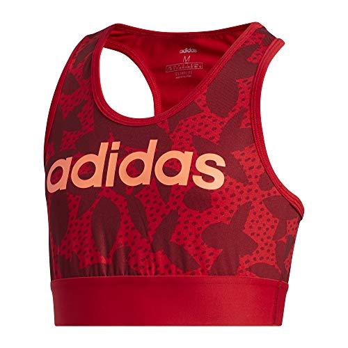 adidas Mädchen YG XPR Bra TOP Sport-BH, Escarl/Buruni/Corsen, 134 (8/9)