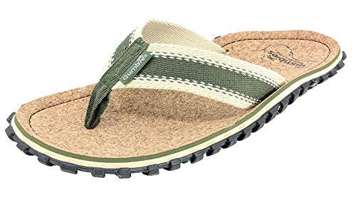 Gumbies Zehentrenner Corker, Farbe: Khaki, Größe: 44