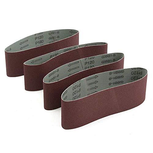 20 piezas de bandas de lijado de 75 * 533 mm Papel de lija de 533 * 75 mm para pantalla de lijado de banda con grano # 40# 80# 100# 120...