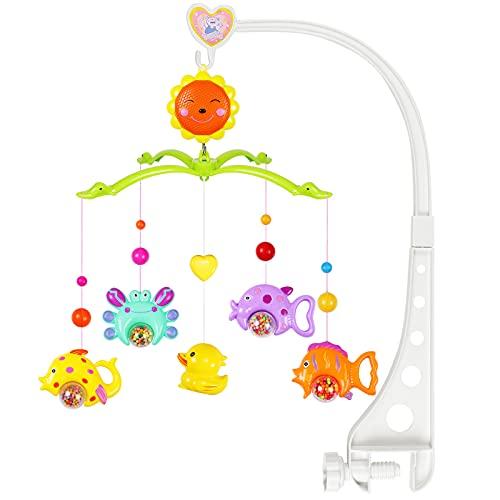 MOOKLIN ROAM Baby Mobile con Musica,Musicale per Culla per Bambini Culla Neonato per Neonati, Music Box Mobile con Musica Rilassante