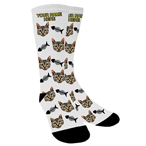 Aolun Calzini Personalizzati Foto,Personalizzati Calzini, Metti nei calzini foto di cani, gatti e altri animali domestici