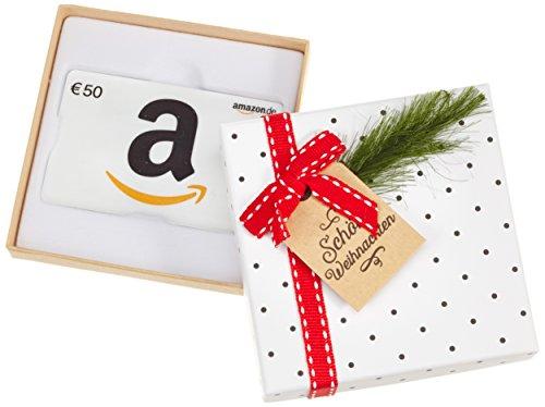 Amazon.de Geschenkkarte in Geschenkbox - 50 EUR (Tannenzweig)