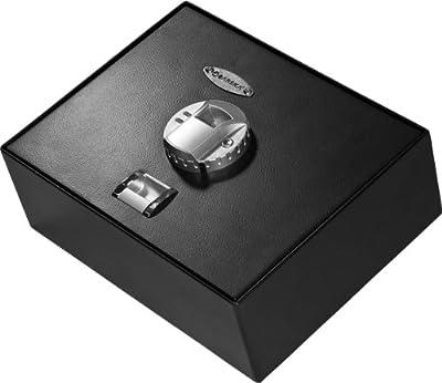 BARSKA AX11556 Biometric Fingerprint Top Opening Security Drawer Safe Box 0.23 Cubic Ft