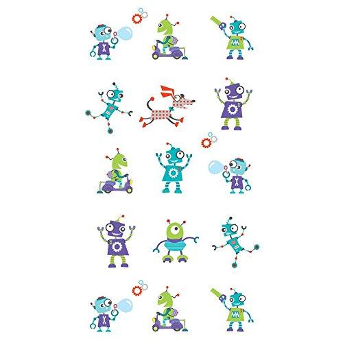 decoloopio 2051 behang voor kinderkamer robot, meerkleurig