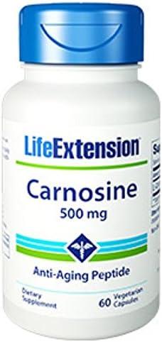 Carnosine 500 mg Vegetarian Max 46% Max 78% OFF OFF 60 Capsules-Pack-3