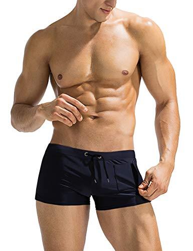 COOFANDY Mens Swim Short Swimming Brief Fashionable Slim Fit Swimsuit Boardshort