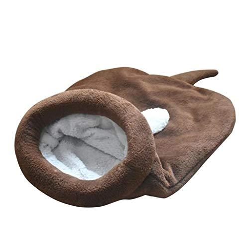 Kat Slaapzak Huisdier Wasbaar Warm Hond Bed Snuggle Zak Dekbed Kussen Mat Voor Kitten Puppy Kleine Dieren, L(65X55CM)