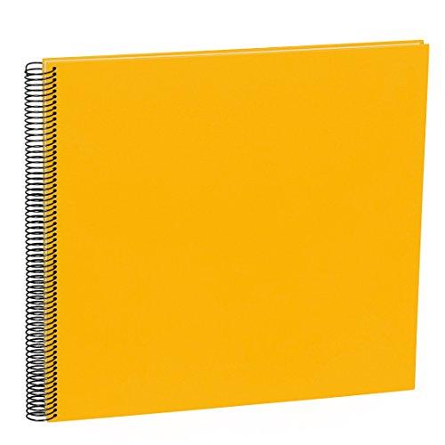 Semikolon (352928) Spiral Album Large sun (gelb) - Spiral-Fotoalbum mit 50 Seiten u. Efalin-Einband -Fotobuch mit cremeweißem Fotokarton