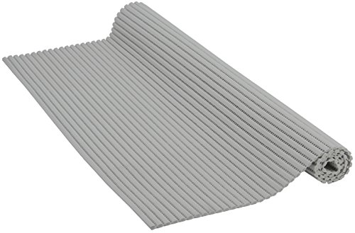 Venilia Weichschaummatte Venisoft Uni Rutschfester Bodenbelag Duschmatte Anti-Rutschmatte, PVC-Polyester, Grau, 65 x 200 cm, 54160