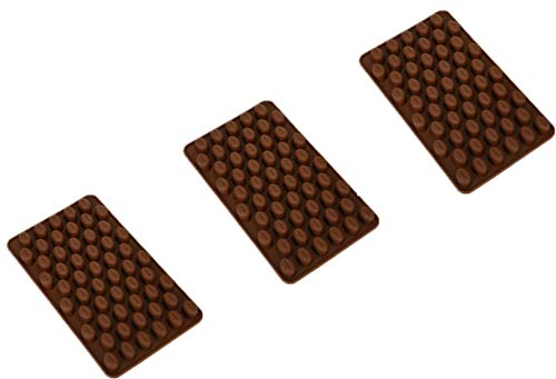 55 Mini Coffee Bean Silicone Mold Bakeware Baking Chocolate Pastry Decoration Ice Candy Butter Jello Making Homemade Mould(3pcs)