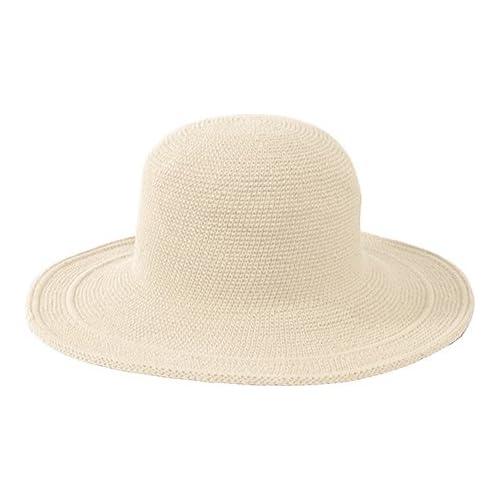 b77c2f0cf5b238 San Diego Hat Company Women's Cotton Crochet 4 Inch Brim Floppy Hat