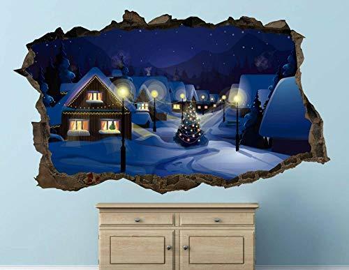 Pegatinas de pared Navidad casa calcomanías de pared calcomanía 3d calcomanía arte vinilo