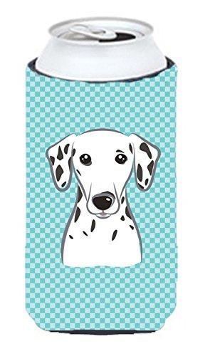 Checkerboard Bleu Dalmatien Tall Boy Koozie Hugger Bb1148tbc
