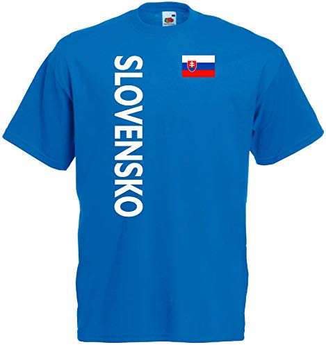 world-of-shirt Herren T-Shirt Slowakei/ Slovensko Trikot 2-