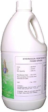 Sri-Balaji Oxychem Food Grade Hydrogen Peroxide 3%, 1 Litre (33.8 oz)