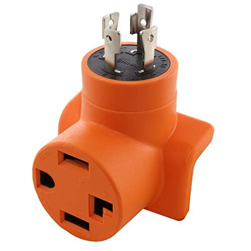 AC WORKS [ADL14301430] L14-30P 4-Prong 30A Generator Locking Plug to 4-Prong 30A 14-30R Dryer Outlet