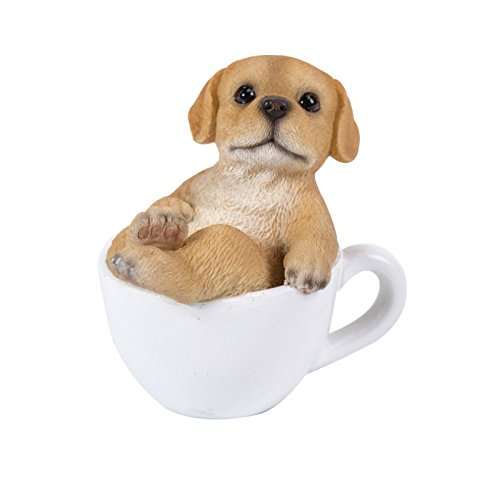 Pacific Giftware Labrador Puppy Adorable Mini Teacup Pet Pals Puppy Collectible Figurine 3.25 Inches