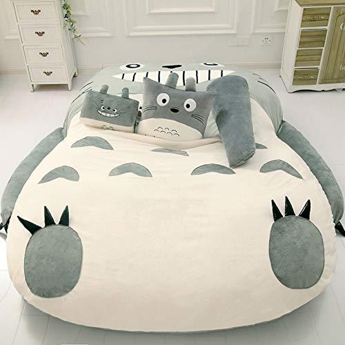 YUCARPET Cartoon-Design Totoro Matratze, Plüsch Totoro Lazy Schlafsofa, Anime...