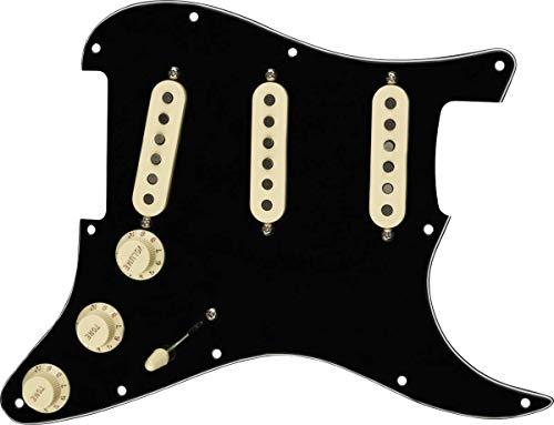 FenderTex Mex Prewired Stratocaster Pickguard - 3-ply Black