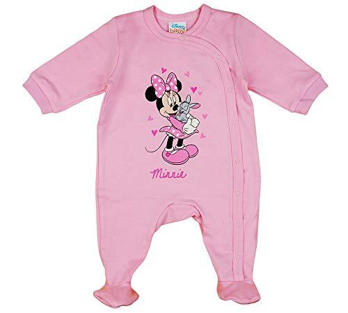 Disney Baby Minnie Mouse Mädchen Strampler mit Fuß, Ärmellos und Langarm *viele Modelle* in Größe 56 62 68 74 Baumwolle auch als Baby Schlafanzug Farbe Modell 16, Größe 68