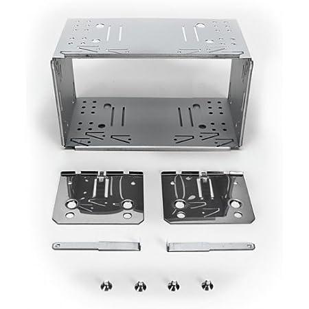 Xomax Universal 2 Din Doppel Din Einbaurahmen Einbauschacht Aus Metall Komplett Set Inkl 4 Schrauben 2 Befestigungsplatten 2 Ausziehschlüsseln Auto