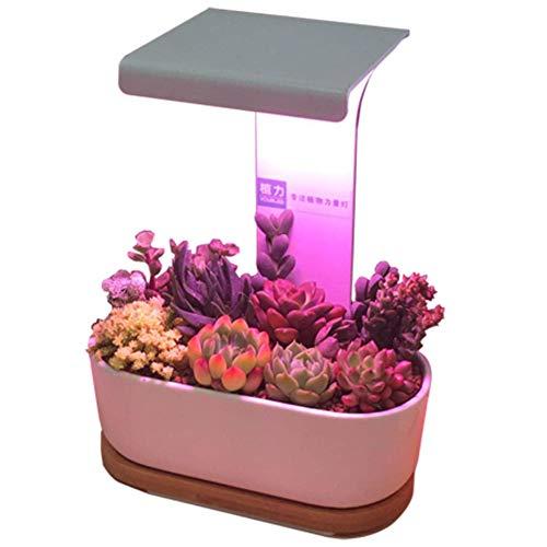 Pflanzenlicht, Pflanze Wachsen Licht, 7W Timing Led Wachsen Stufen Vollspektrum Pflanze Wachsen Lampe Schwanenhals Wachsen Birne Für Zimmerpflanzen Samen Keimung Und Blüte