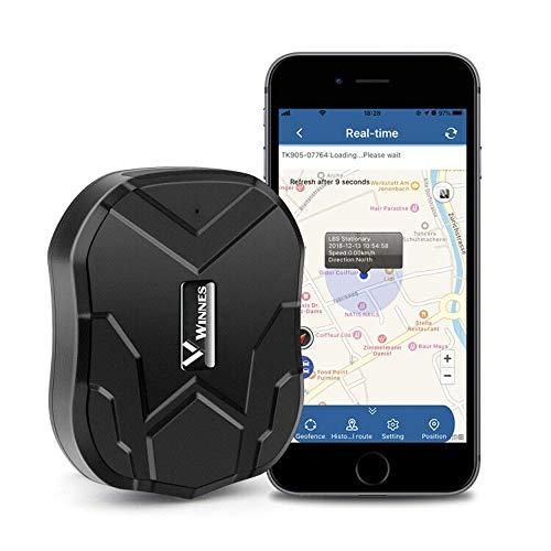 Muxan - Rastreador GPS en tiempo real 3G, resistente al agua, batería de larga duración, 60 días, localizador en línea, batería de 5000 mAh, con gran capacidad, soporte 3G tarjeta (3G TK905)