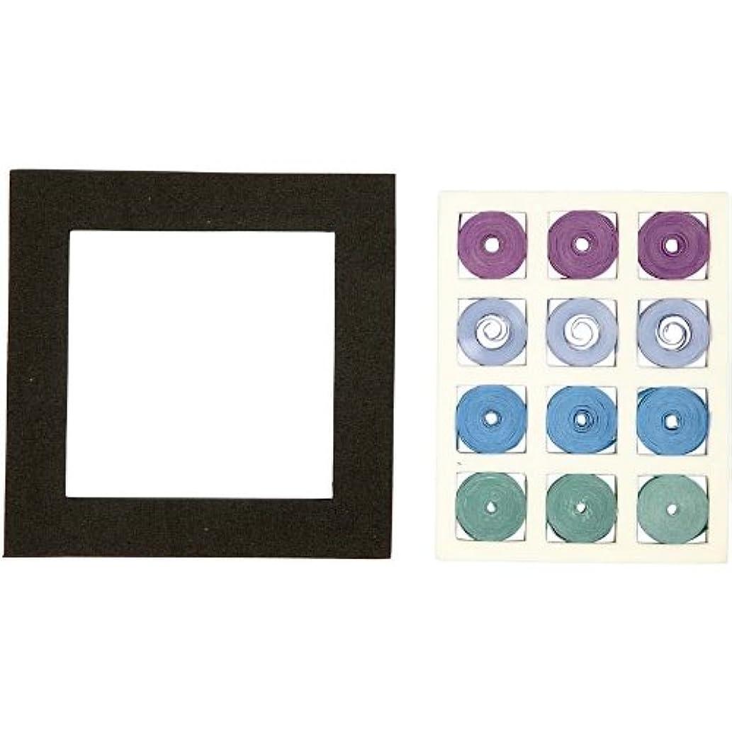 Creativ 10 x 10 cm Quilling Set Harmony Square, Set of 1, Blue/Green