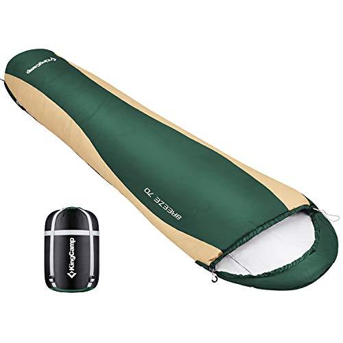 KingCamp(キングキャンプ) シュラフ コンパクト寝袋 軽量 マミー型 丸洗い可能 収納袋付き 最低使用温度3度