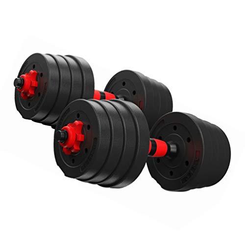 VORCOOL 1 Paar 30 kg verstellbar Hanteln Fitness-Hanteln Abnehmbare Hanteln für das Home Office Fitnessstudio