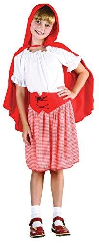 Bristol Novelty CC459 Costume de Petit Chaperon, Taille, Rouge/Blanc, Grand