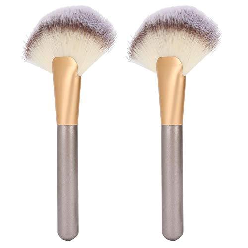 Professionele waaier make-upborstels, 2 stuks waaiervorm Borstel Make-up Gezichtsmarkering Borstels Cosmetische borstel, Markering Make-up cosmetisch hulpmiddel