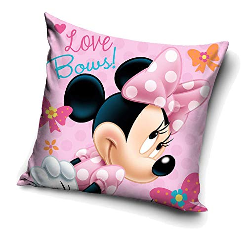 Disney Minnie Maus Love Bows Mouse | Kinder Kissen 40 x 40 cm Dekokissen