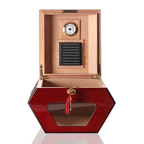 ZXL sigaar doos, vochtige sigaar doos, sigaar doos, vochtige bevochtiger cederhout voering mannen geschenkdoos sigaar kast collega sigaar doos