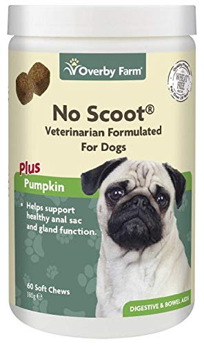 Overby Farm No Scoot Soft Chews for Dogs, 60-Piece, 180 g