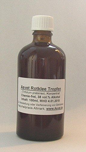 Asvet 100ml Rotklee Tropfen, Tinktur, Extrakt, Konzentrat, ohne Chemie !