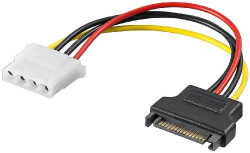 M-Cab interne stroomkabel - 5.25 bus > S-ATA stekker - interne stroomkabel (SATA 15-pin, Molex (4-pin), male connector/vrouwelijke connector, recht, meerkleurig)