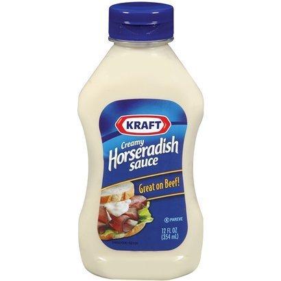 Kraft, Horseradish Sauce, 12oz Squeeze Bottle (Pack of 3)