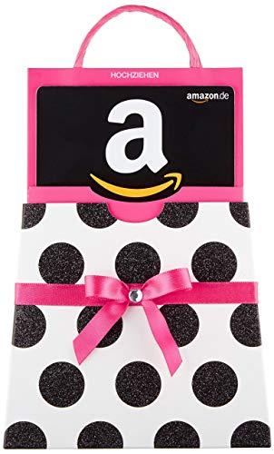 Amazon.de Geschenkkarte in Geschenkschuber (pinke Schleife)
